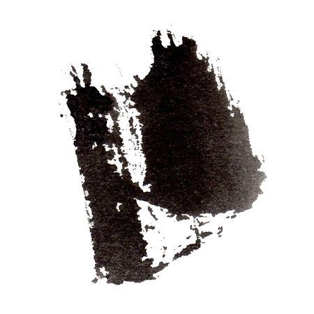 Vektorschwarzer Tintenfleck lokalisiert auf einem weißen Hintergrund. Grunge-Textur. Vektorgrafik