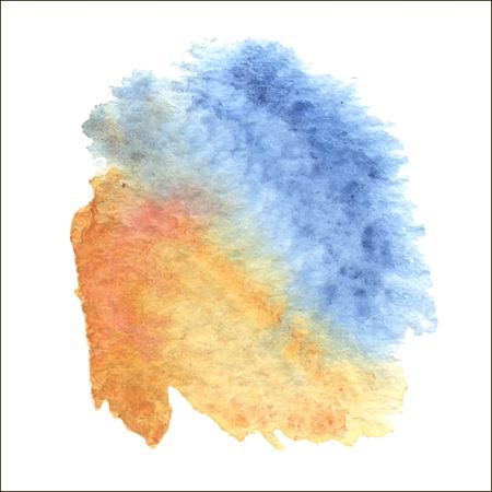 Abstract watercolor art hand paint isolated on white background. 向量圖像