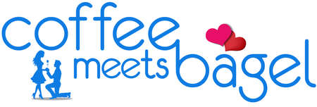 Coffee Meets Bagel artistic logo vector. Coffee Meets Bagel is an online dating and social networking app Illustration