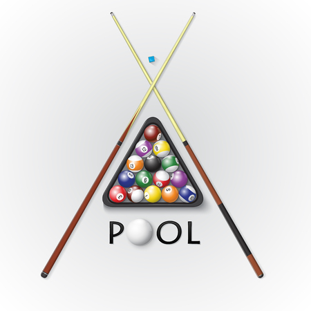 Pool billiards background. Vector illustration. Illustration