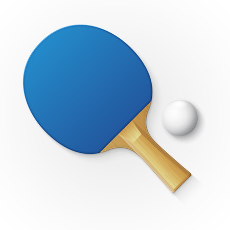 Racket and ball for playing table tennis. Vector illustration