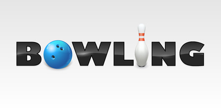 Word of bowling. Vector illustration