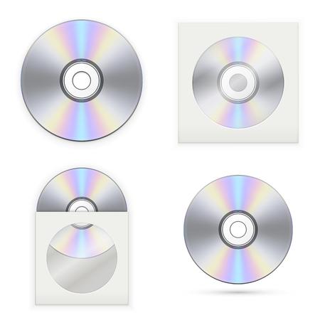 Set of the CD disks. Vector illustration