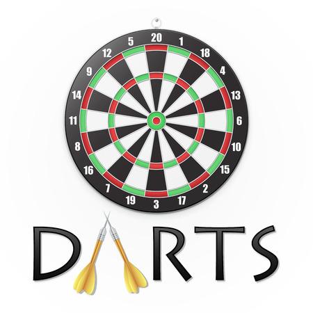 Darts background. Vector illustration. Illustration