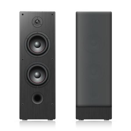 Acoustic speakers. Vector illustration