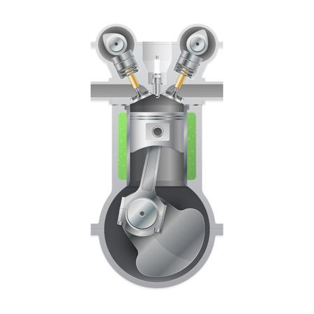 Basic internal combustion engine. Vector illustration Illustration