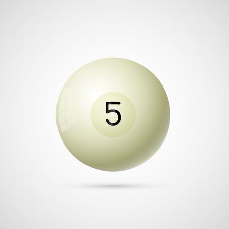 Russian billiardl ball number 5.