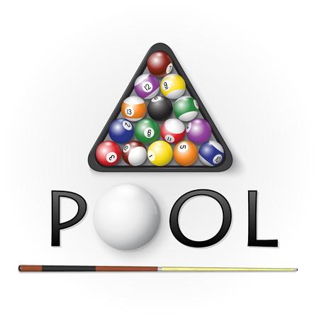 Pool billiards background.