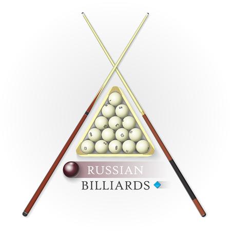 Russian billiards background. Vector illustration.
