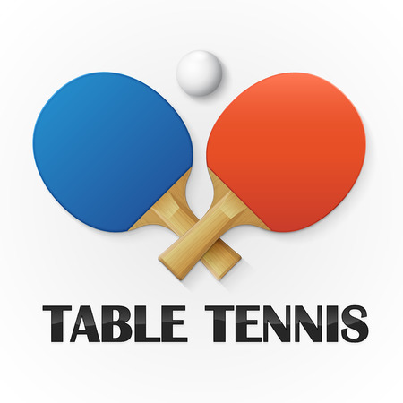 Table tennis background. Vector illustration