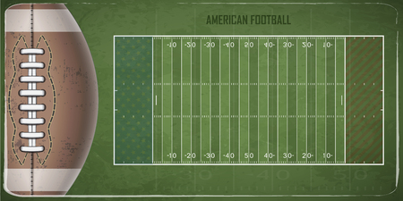 Field for game in the American football. Vector illustration Illustration