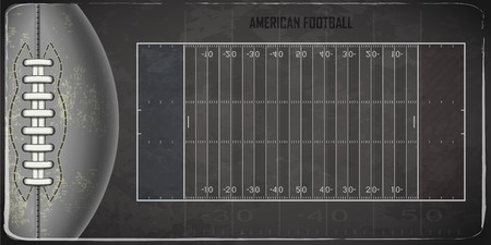 Field for game in the American football. Vector illustration Vettoriali