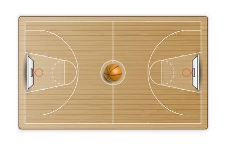 Cancha de baloncesto. Ilustración vectorial