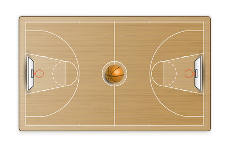 Terrain de basketball. Illustration vectorielle Banque d'images - 95994166