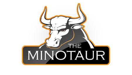 Minotaur on a white background. Vector illustratin