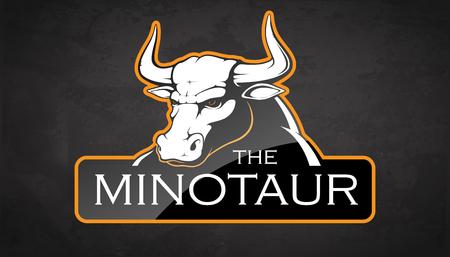 Minotaur on a black background. Vector illustration