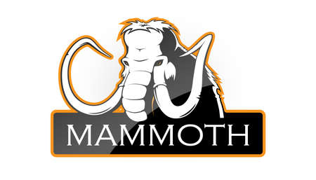 Mammoth on a white background. Vector illustration