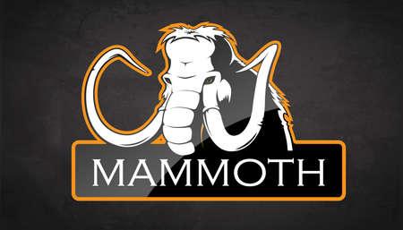 Mammoth on a black background. Vector illustration Illustration