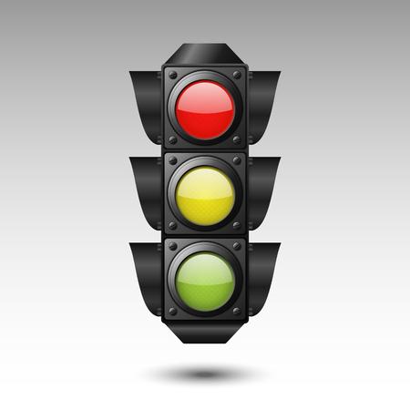 Traffic light. Vector illustration Illustration