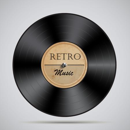 Vinyl record.Vector illustration