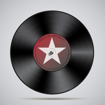 Vinyl record Vector illustration isolated on plain background