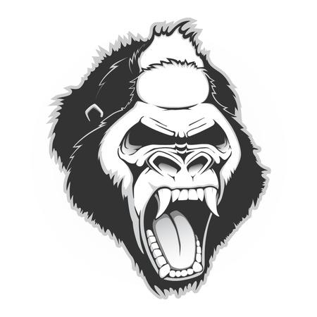 Head of a gorilla. Vector illustration Illustration