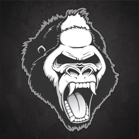 Head of a gorilla Vector illustration
