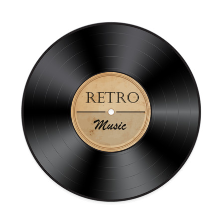 Retro vinyl record on a white background.Vector illustration Illustration