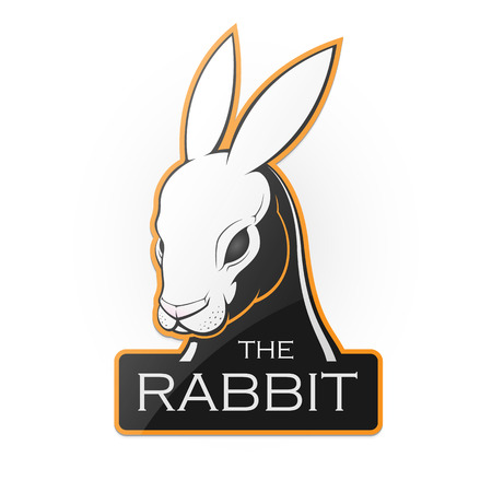 Rabbit on a white background. Vector illustration of a rabbit with room for text.