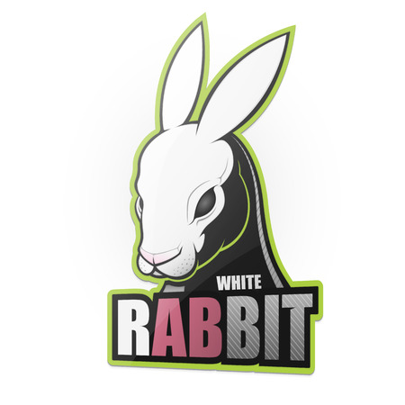 White rabbit. Vector illustration 일러스트