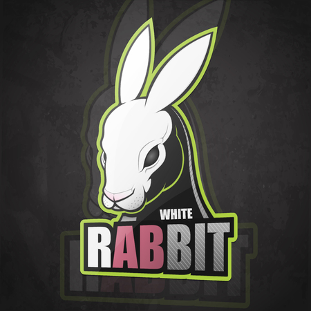 White rabbit. Vector illustration Illustration