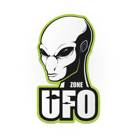The head of the alien and the zone of UFO. Vector illustration Illustration