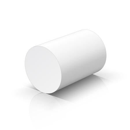 White cylinder. Vector illustration Illustration
