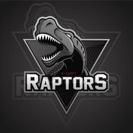 Modern professional dinosaur for a sport team. Illustration