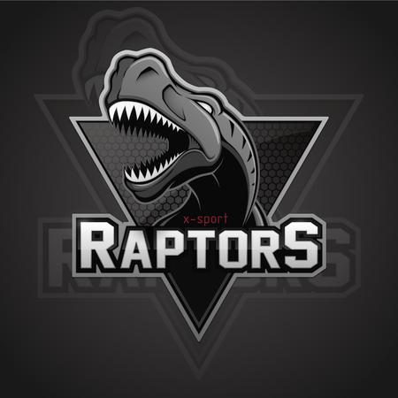 Modern professional dinosaur for a sport team.