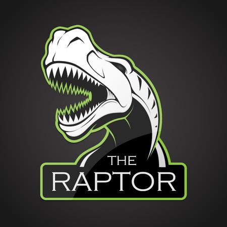 Head of dinosaur on a dark background. Illustration