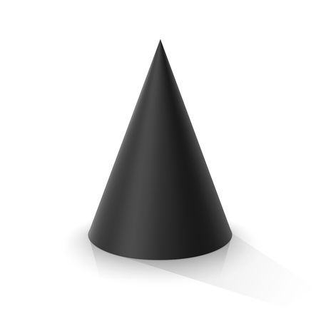 Black cone. Vector illustration Çizim