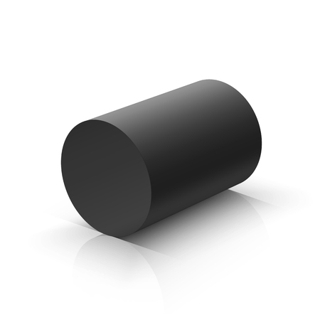 Black cylinder. Vector illustration