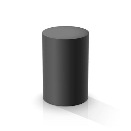 Cylindre noir. Illustration vectorielle