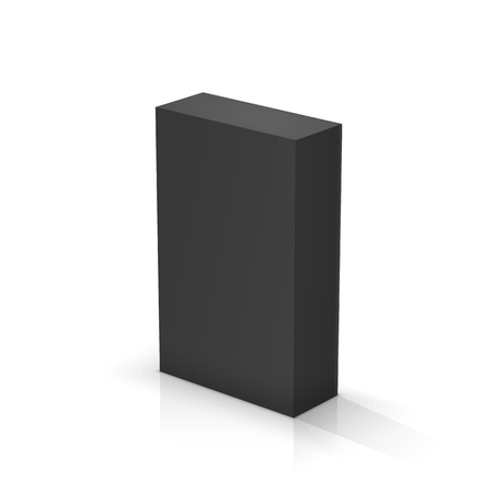 Black rectangular parallelepiped. Vector illustrations