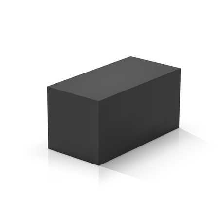 Black rectangular prism. Vector illustration