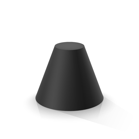 Black frustum cone. Vector illustration Stock fotó - 122457760