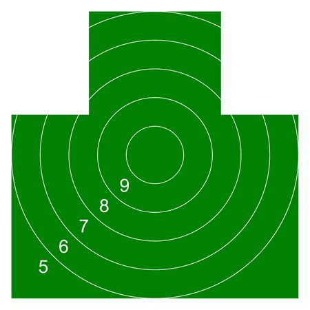 Chest target for shooting range. Vector illustration for print 向量圖像
