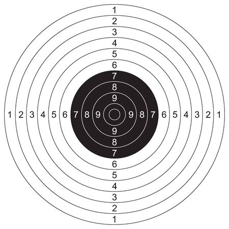 Sport, cel strzelecki. Ilustracja wektorowa do druku
