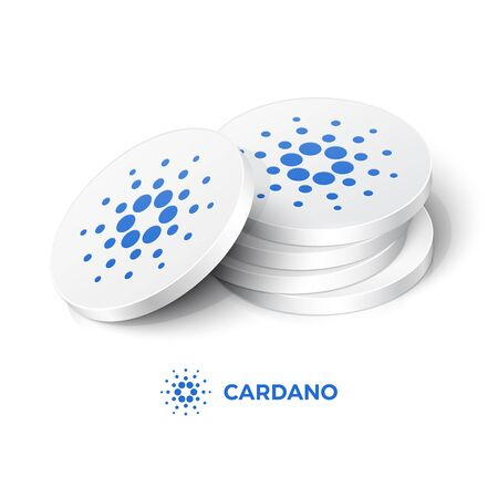 Cardano cryptocurrency tokens. Vector illustration