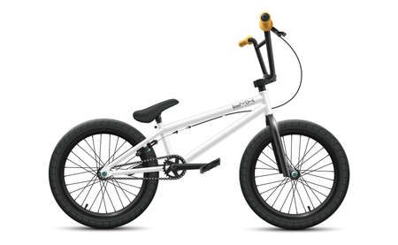 BMX bicycle mockup - right side view. Vector illustration