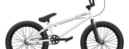 BMX bicycle mockup - right side close-up. Vector illustration Çizim