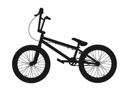 BMX Bicycle Silhouette. Vector illustration