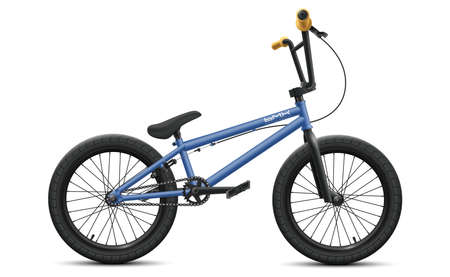 Blue BMX bicycle - right side view. Vector illustration of detailed bike isolated on white background