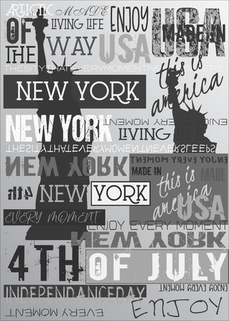 New York Usa NYC Poster Gray Edition